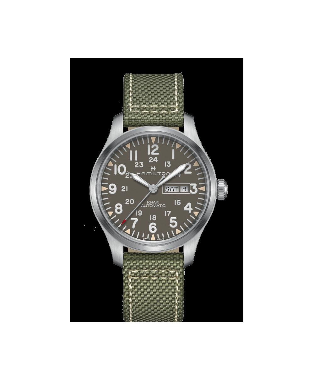 Reloj Hamilton Khaki Field Day Date Auto Verde