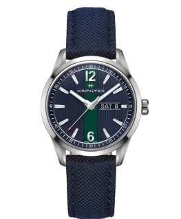 Reloj Hamilton Broadway Day Date Quartz Azul