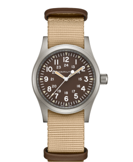 Reloj Hamilton Khaki Field Mechanical Marrón
