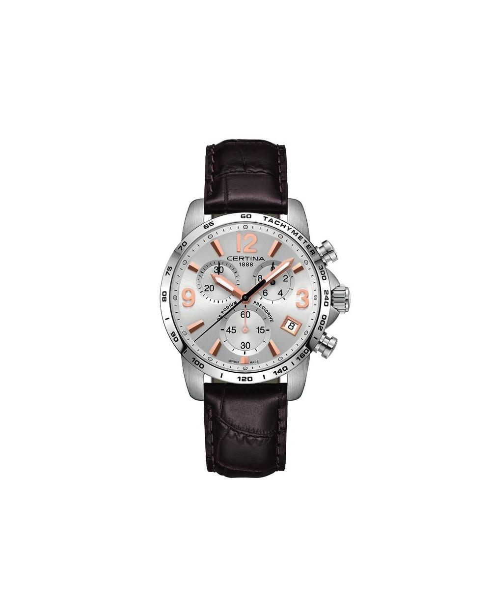 Reloj Certina DS Podium Chronograph Piel Marrón