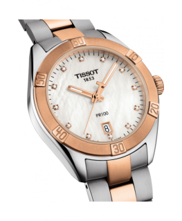 Reloj Tissot PR 100 Sport Chic Dorado