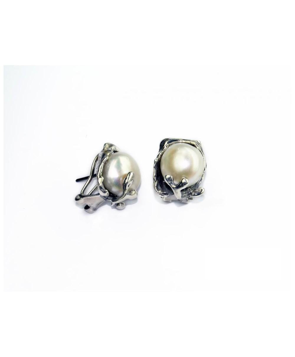 Pendientes MINI plata de ley y perla natural de La Perionda