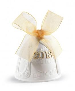 FIguras regalo de Lladró Campana Navidad 2018. Lustre Oro
