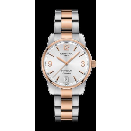 Reloj Certina Ds Podium Lady 33mm Rosado