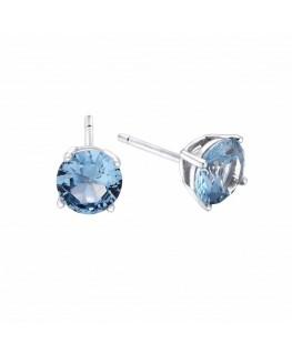 Pendientes Pretty Jewels Circonita Aqua de Plata de Duran Exquse