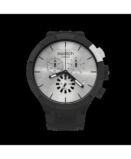 Reloj Swatch Chequered Silver SB02B404
