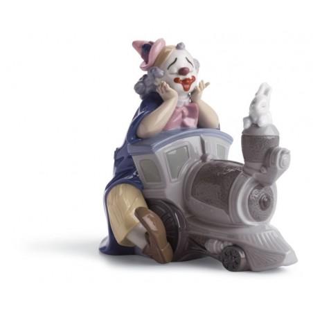 FIguras regalo de Lladró Figura Payaso Loca Locomotora